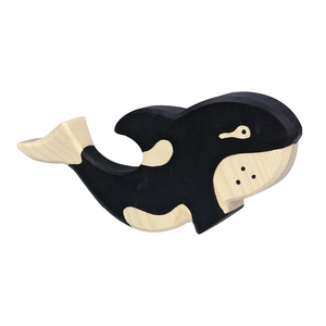 Orca Whale Wooden Figure by Holztiger