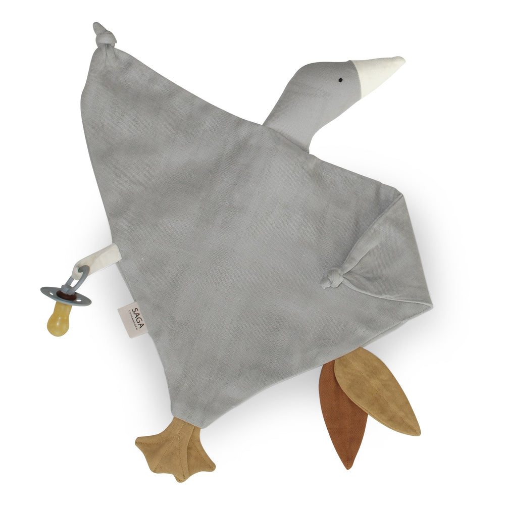 Organic Cotton Cuddle Cloth in Silver Grey
