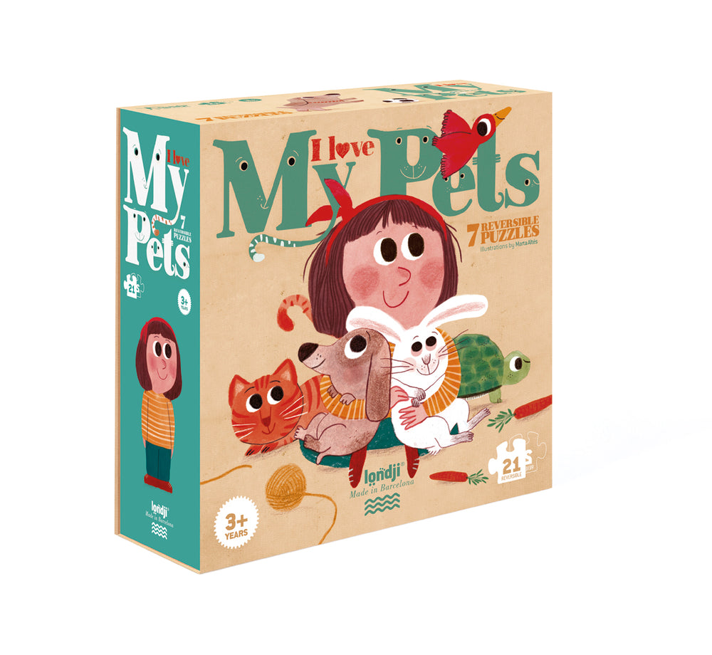 I Love My Pets Reversible Puzzle