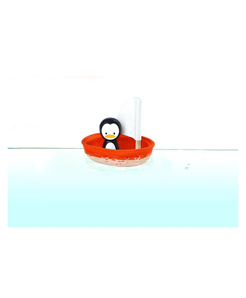 Penguin Sailing Boat - Bath and Water Toy by Plan Toys