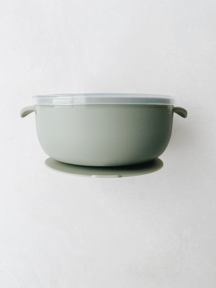 Silicone Non-slip Bowl in Sage by L + L the LABEL