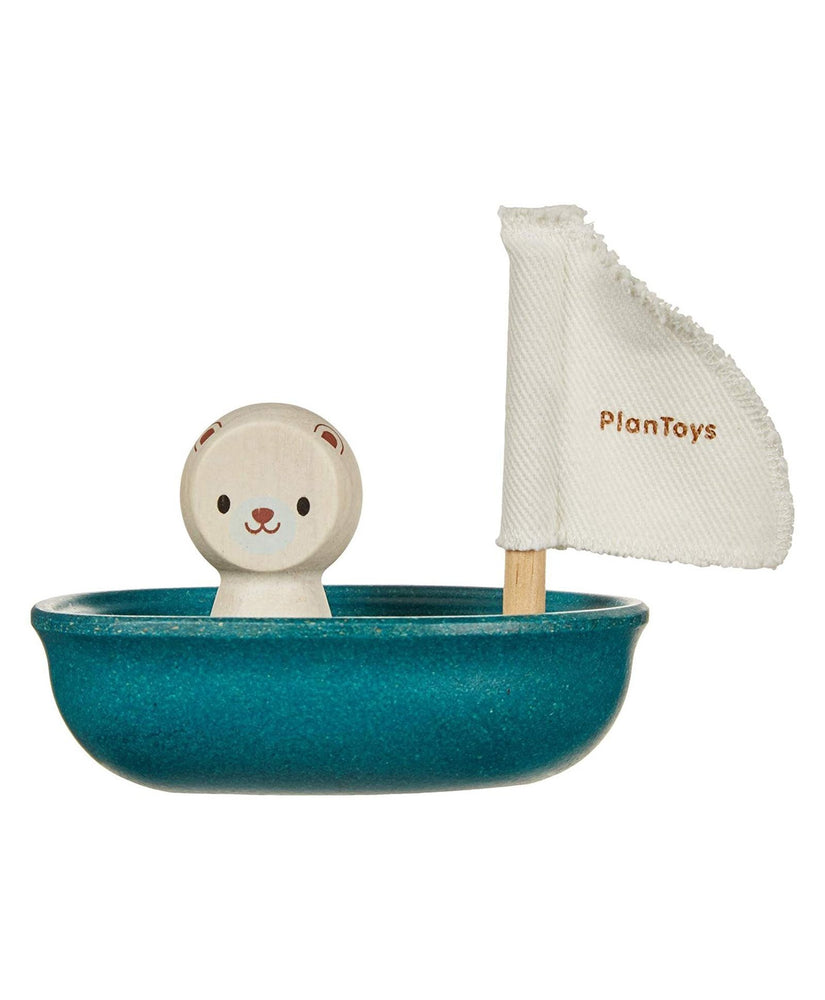 Polar Bear Sailing Boat - Bath and Water Toy by Plan Toys