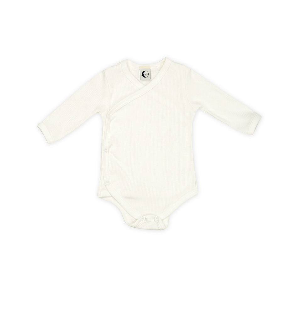 Baby Body Wrap in Milk Rib by Sleepy Doe