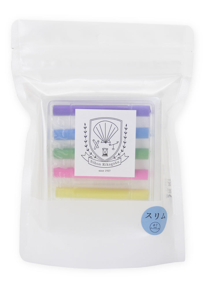 Dustless Chalk Slim Set of 6 Colours by Kitpas