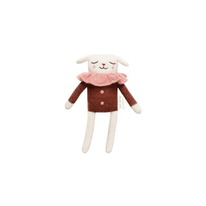 Lamb Knitted Toy in Sienna Blouse