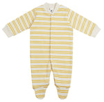 Baby Bodysuit in Sand Stripe by Sleepy Doe