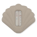Shell Silicone Bath Thermometer | Warm Grey