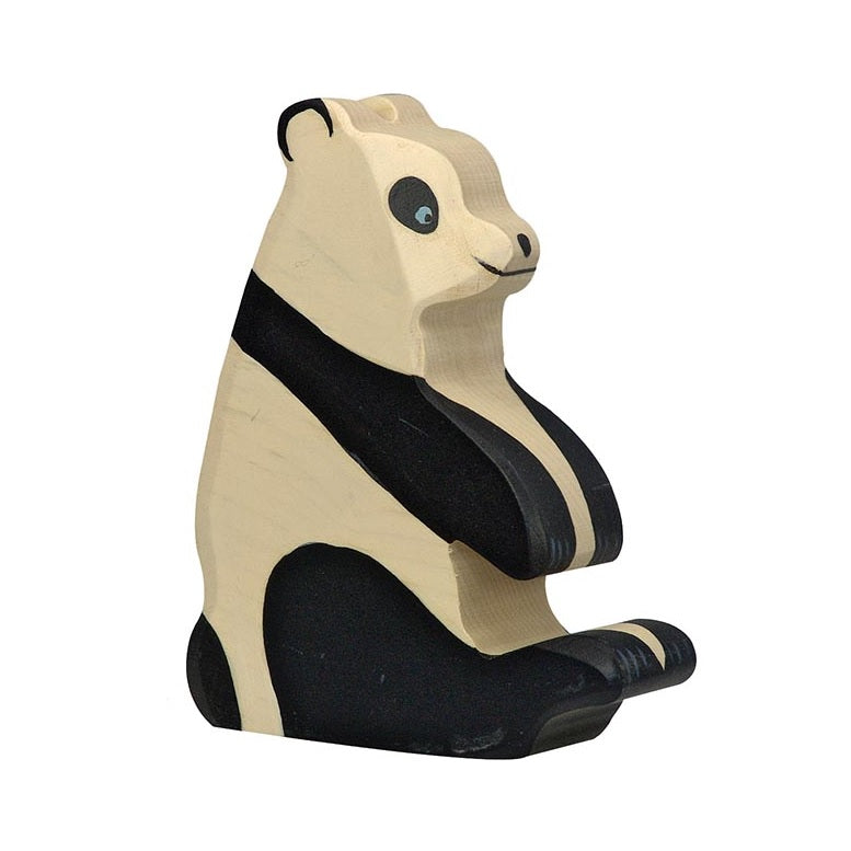 Sitting Panda Wooden Figure by Holztiger