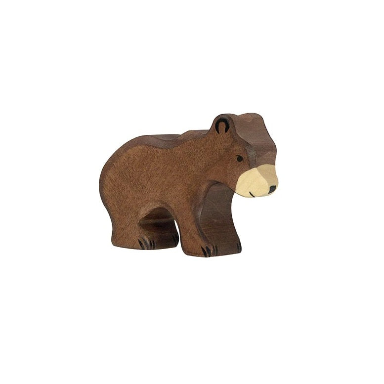 Small Brown Bear Wooden Figure by Holztiger