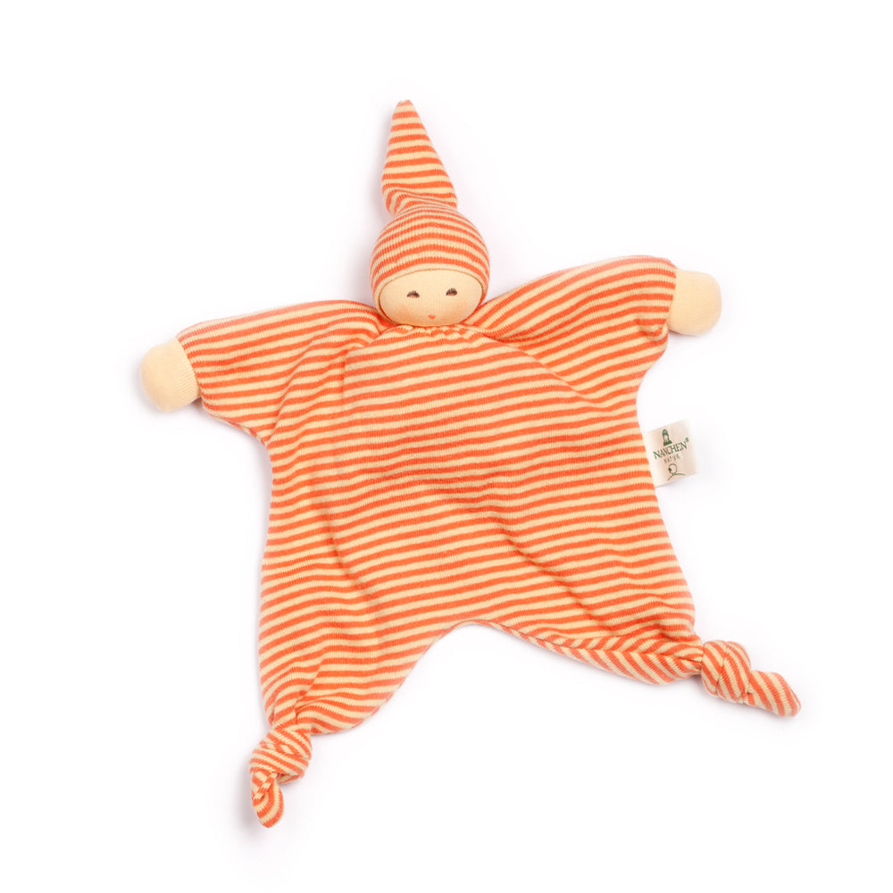 Load image into Gallery viewer, Organic Cotton/Wool Doll Comforter | Orange Sun