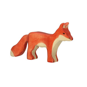 Standing Fox Wooden Figure by Holztiger