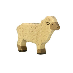 Standing Sheep Wooden Figure by Holztiger