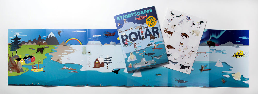Stickyscapes Polar Adventures - 100 Reusable Stickers