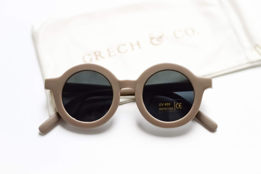 Sustainable Kids Sunglasses with Matte Finish in Stone by Grech & Co.