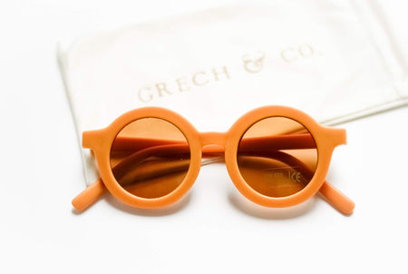 Sustainable Kids Sunglasses with Matte Finish in Golden by Grech & Co.