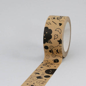 Load image into Gallery viewer, Ricemonsters Kraft Paper Tape by Noodoll (35 metres)