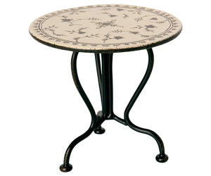 Maileg Micro Vintage Tea Table, Anthracite