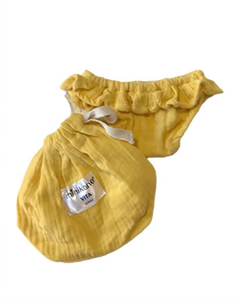 Vita Double Gauze Cotton Bikini in Sand Yellow for Gordis Dolls by Minikane