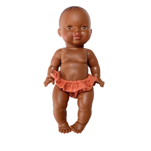 Load image into Gallery viewer, Vita Double Gauze Cotton Bikini in Sienna for Gordis Dolls by Minikane