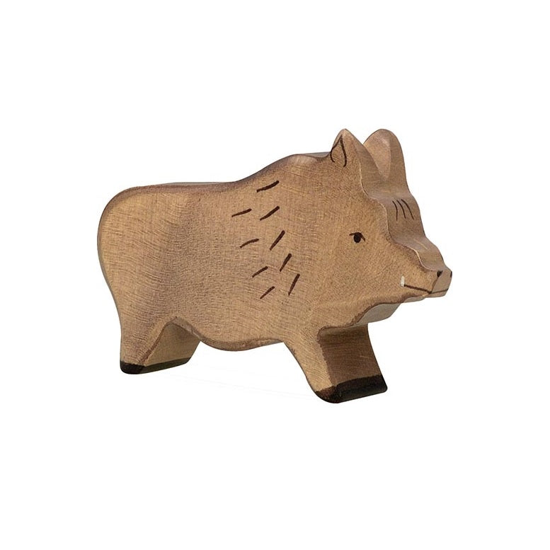 Wild Boar Wooden Figure by Holztiger