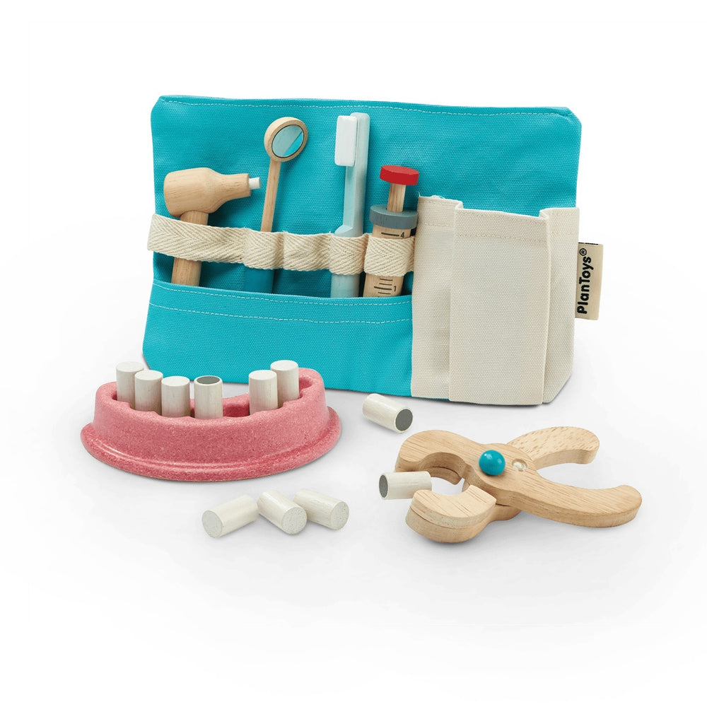 Load image into Gallery viewer, Wooden Dentist Toy Set