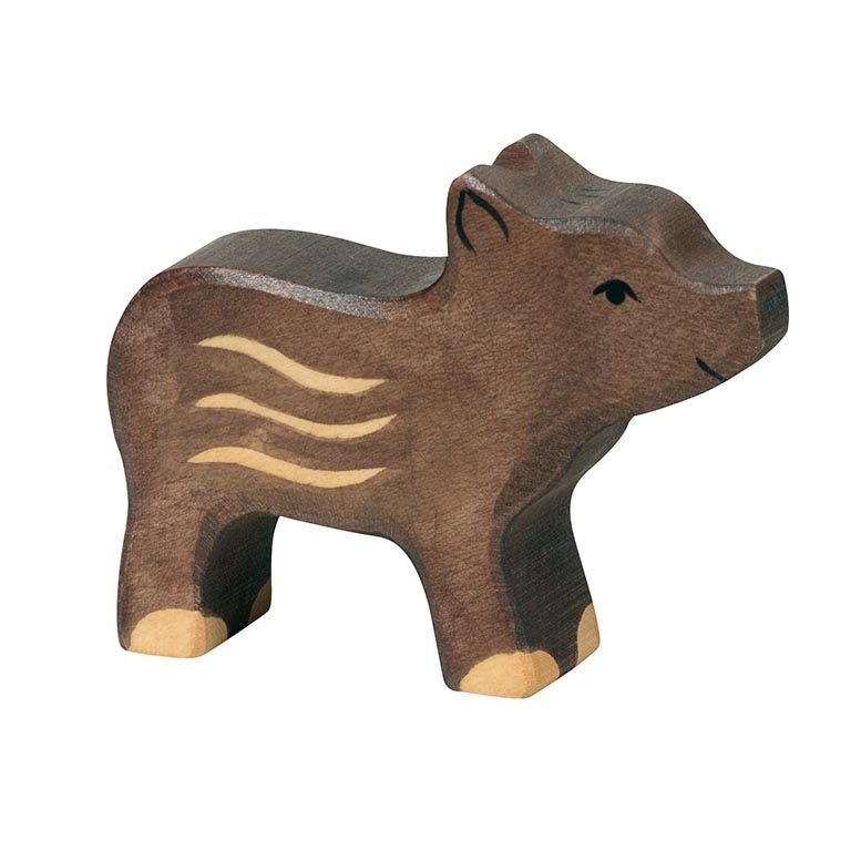 Young Boar Wooden Figure by Holztiger