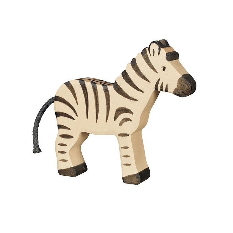 Zebra Wooden Figure by Holztiger