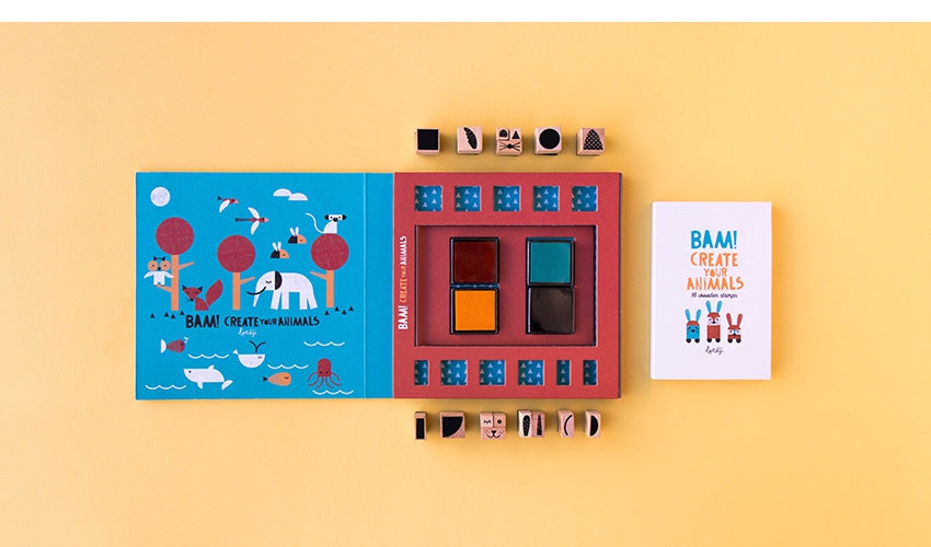 Bam! Animals Stamps Set