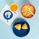 Bambino Kid Set - Lemon / Tomato / Royal Blue / White by Ekobo