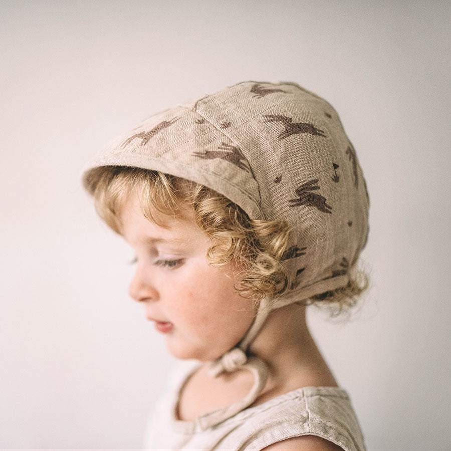 Rabbits Wide-brimmed Bonnet by Main Sauvage