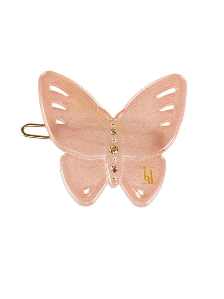 Butterfly Hair Clip in Pink by Bon Dep