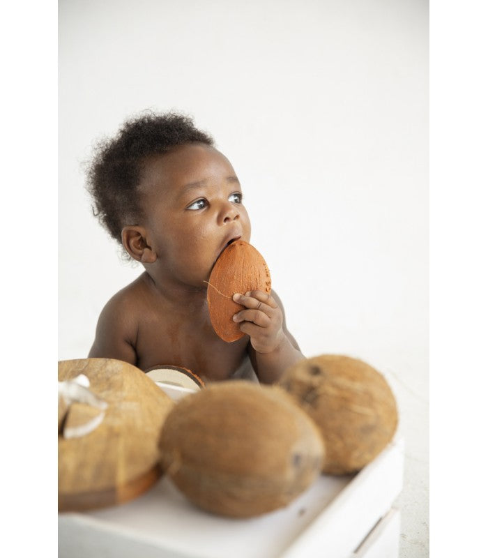 Coco the Coconut 100% Natural Rubber Teether by Oli & Carol