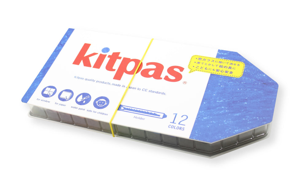 Large Crayons in Holder by Kitpas (12 Colours)