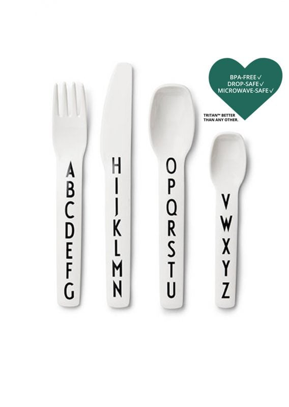 Kids Cutlery in White by Design Letters