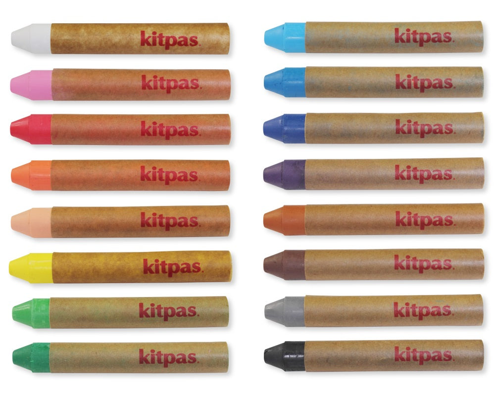Medium Crayons by Kitpas (16 Colours)