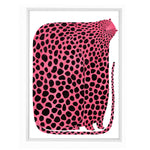 Pink Leopard Poster by Mia Nilsson