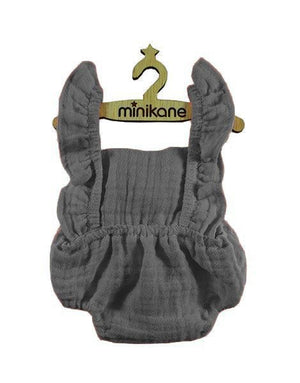 Load image into Gallery viewer, Lou Retro Romper Double Gauze Cotton in Gray for Gordis Dolls by Minikane