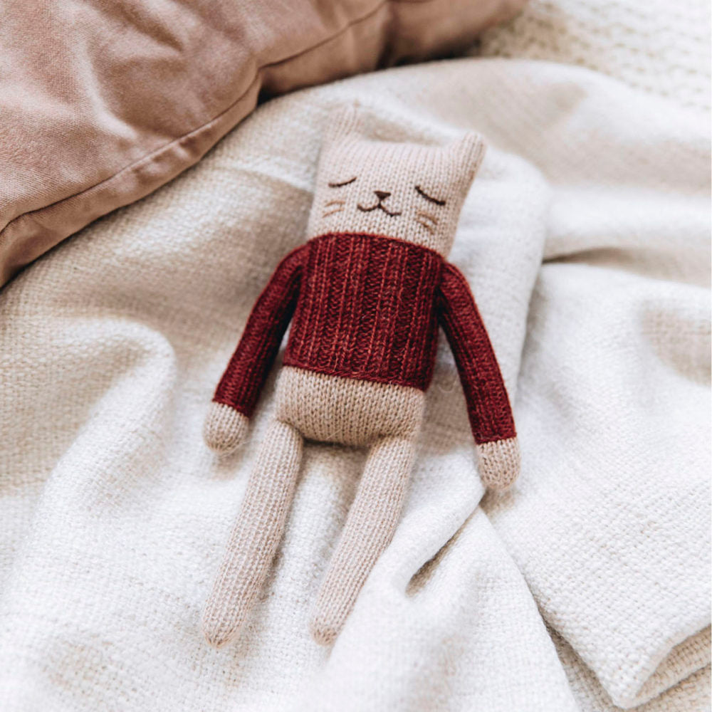 Kitten Knitted Toy in Sienna Sweater