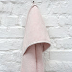 Organic Cotton Hooded Towel in Grain Rose by Trixie
