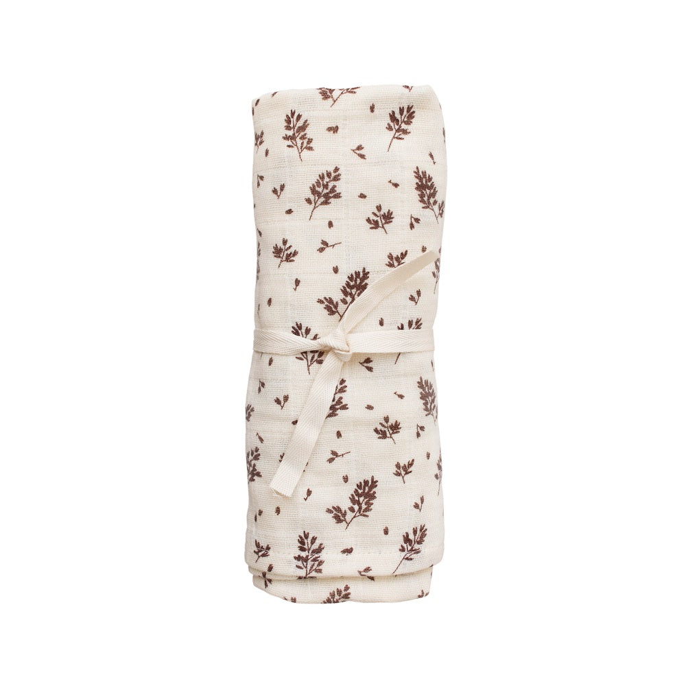 Meadow Print Muslin Swaddle Blanket by Main Sauvage