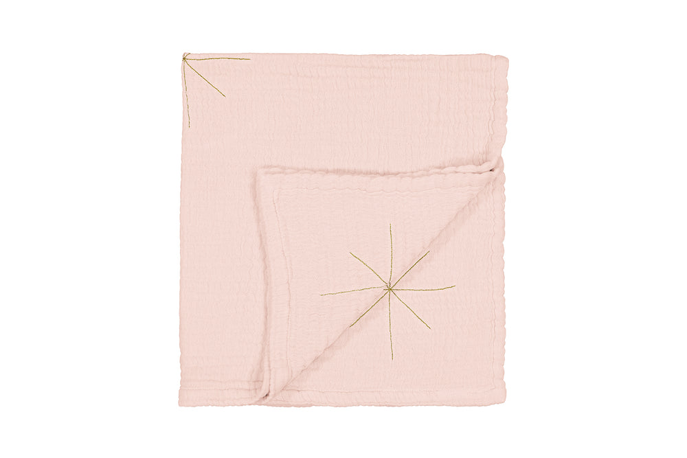 Cotton Gauze Baby Swaddle / Blanket in Blush by MOUMOUT