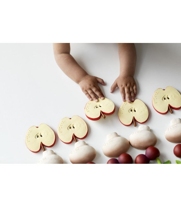 Pepita the Apple 100% Natural Rubber Teether by Oli & Carol