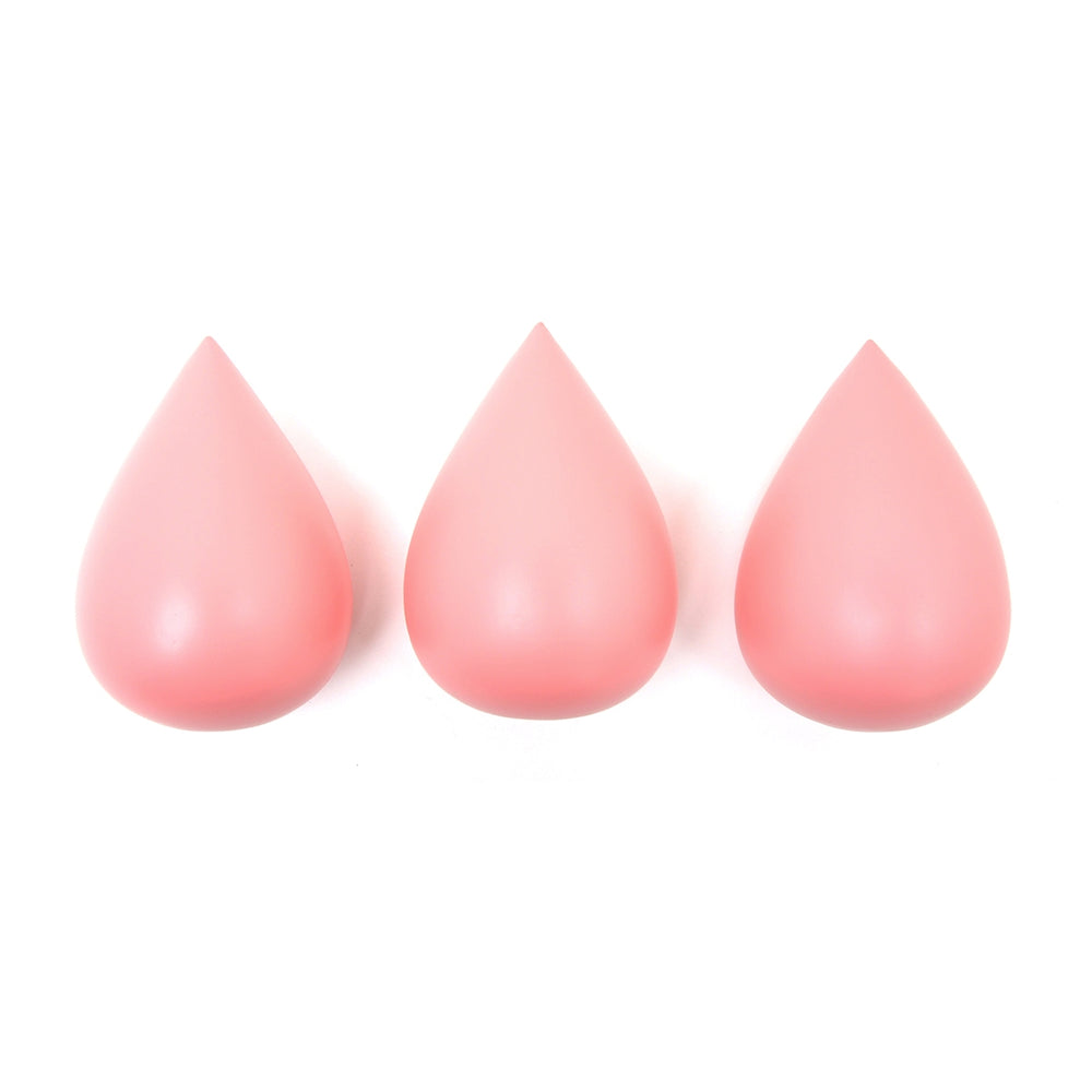 Set of 3 Raindrops Hooks in Coral Pink by Rose in April