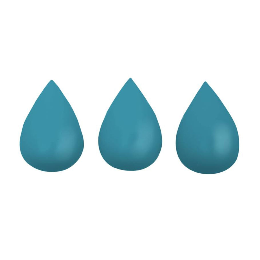 Set of 3 Raindrops Hooks in Petrol Blue by Rose in April