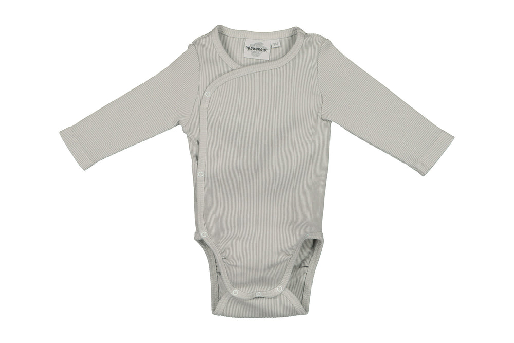 Double Cotton Ribbed Bodysuit in Almond by MOUMOUT