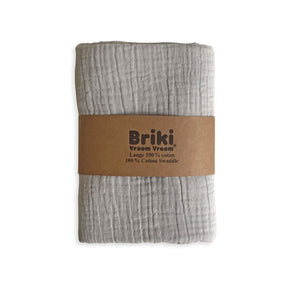Load image into Gallery viewer, Double Gauze Muslin Swaddle OEKO-TEX® Cotton by Briki Vroom Vroom