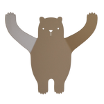 Bear Wall Hook in Brown by Tresxics