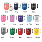 Mug colors  limited quantity available. Some colors may take longer to get. If you need your mug for a certain event, please check color availability with us before ordering