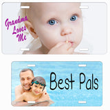 Personalized License Plate with your photo available in many sizes