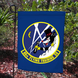 mock up of flag on pole for 86th squadron,  pole not included
